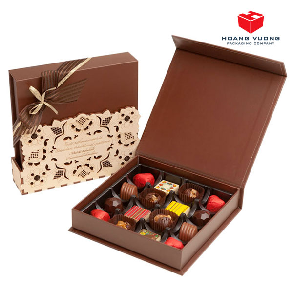 Hộp giấy cứng chocolate cao cấp