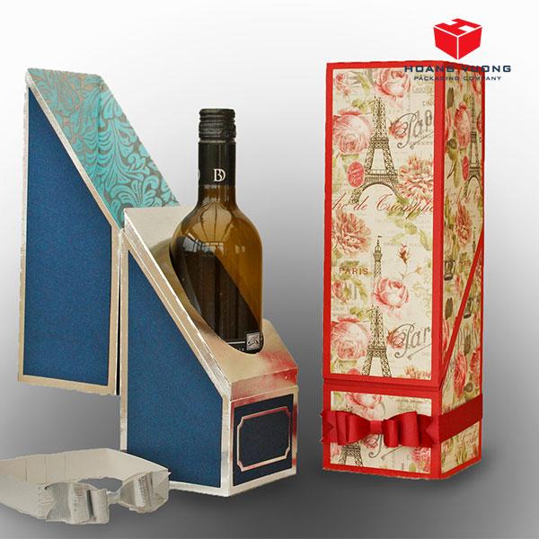 Hộp giấy đựng rượu cao cấp