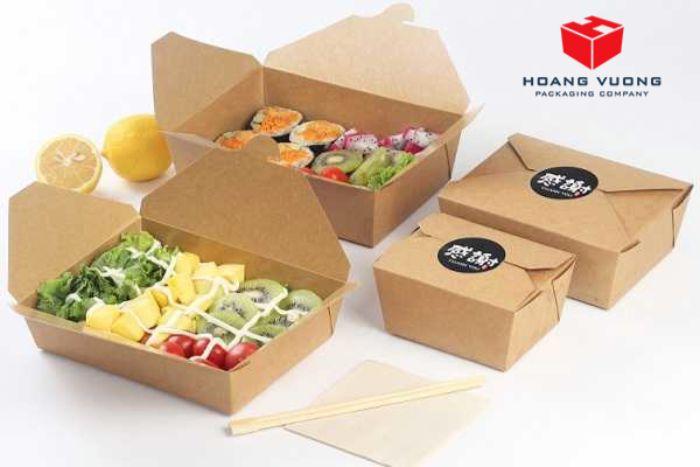 Đựng thực phẩm bằng hộp giấy